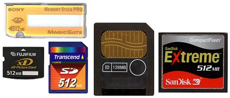 Memory Cards   Info About Different Types   Steves Digicams