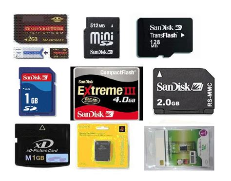 Memory cards   types   usages???