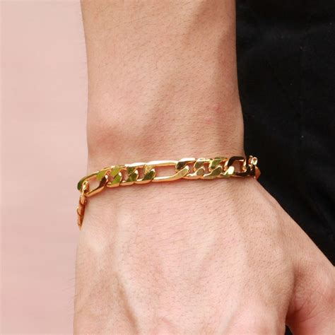 Mens Gold Bracelet | men bracelets | Pinterest | Mens gold ...