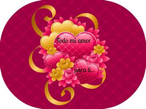 Mensaje de amor con corazones. | MandarSaludos.com