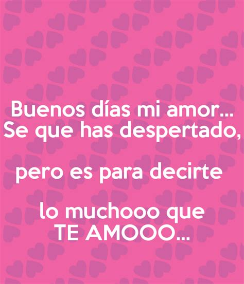 Mensajes De Buenos Dias Amor - Imagenes Con Frases