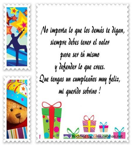 Mensajes De Cumpleaños Para Mi Sobrino | Saludos De ...