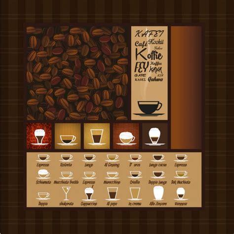 Menú de variedades de café | Descargar Vectores gratis