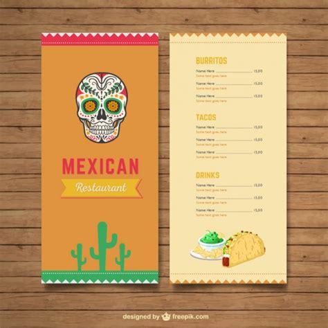 Menú del restaurante mexicano | Descargar Vectores Premium