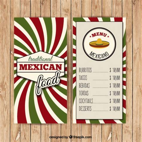Menú mexicano con rayas verdes y rojas | Descargar ...