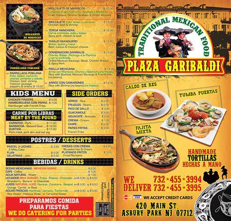Menú | Plaza Garibaldi Mexican Restaurant