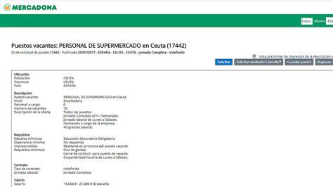 Mercadona busca a sus primeros 77 empleados en Ceuta ...