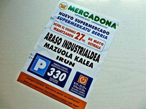 MERCADONA nuevo supermercado en Irun, 27 Mayo