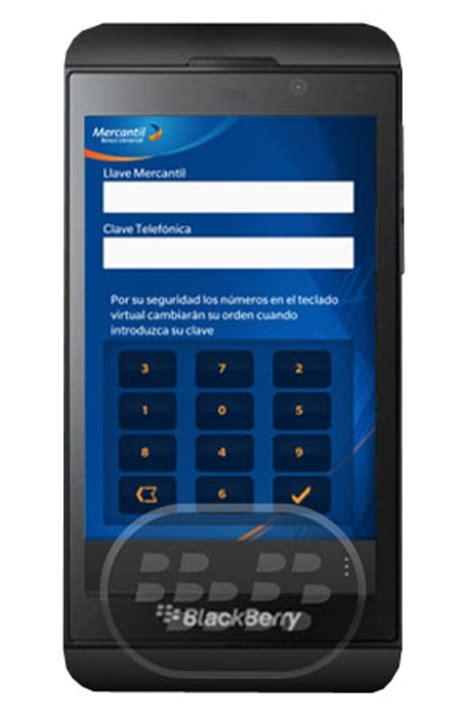 Mercantil Móvil Aplicación Para BlackBerry Z10 - Todo ...