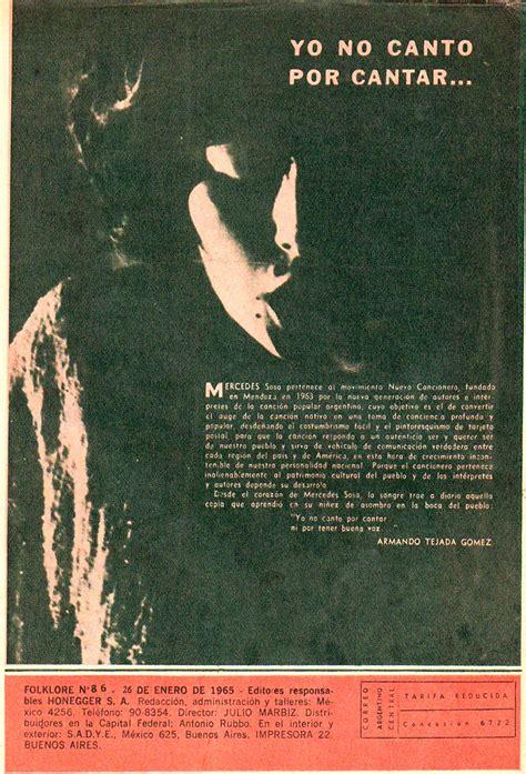 Mercedes Sosa – Revista Folklore