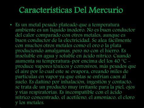 Mercurio Mineral Peligroso