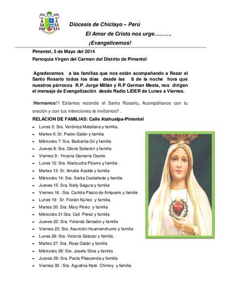 Mes de la Virgen María  El Santo Rosario