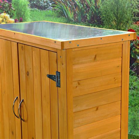 Mesa armario almacén de madera para jardín terraza balcón ...