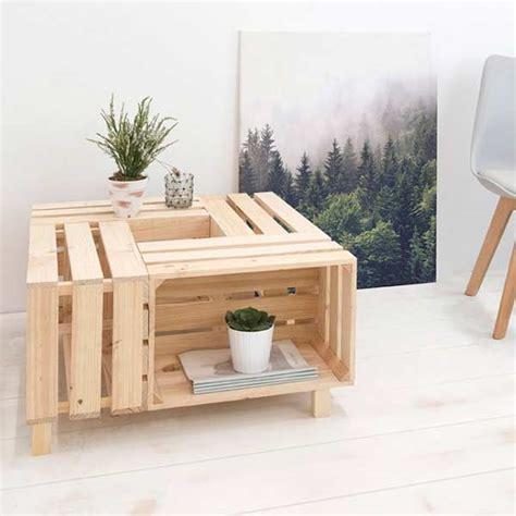 Mesa centro cajas de palets de diseño | DECOPALE.COM