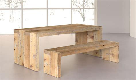 -Mesa comedor Denver de madera centenaria en ...