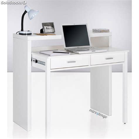 Mesa de ordenador escritorio extensible color blanco ...