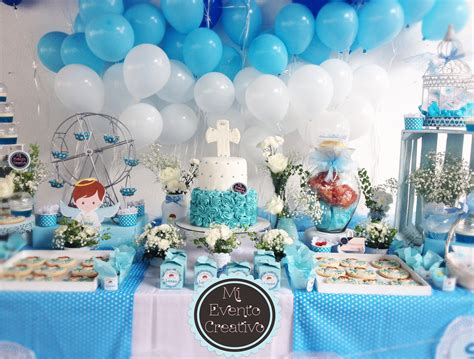 Mesa de Pastel con Postres Dulces y Snacks para Bautizo ...