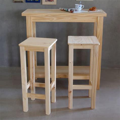 mesa desayunador con estante bar + 2 bancos altos + regalo ...