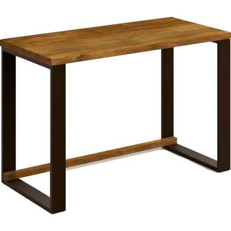 Mesa escritorio de madera maciza natural y patas de acero ...