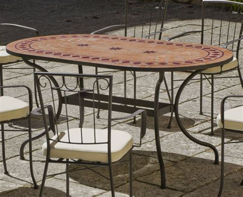 Mesa Mosaico Asburgo 160 de Hevea « Terraza/Jardín Forja ...