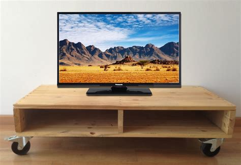 Mesa Palet TV Ruedas 115x55x28 Ref.MPTVR1155526