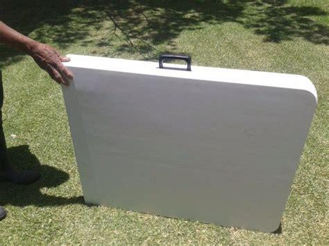 Mesa Plegable Plastico Reforzada Tip Portafolio 1.80m ...