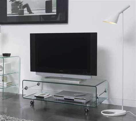 Mesa TV cristal con ruedas 100x50 CT-220 - www.regaldekor.com