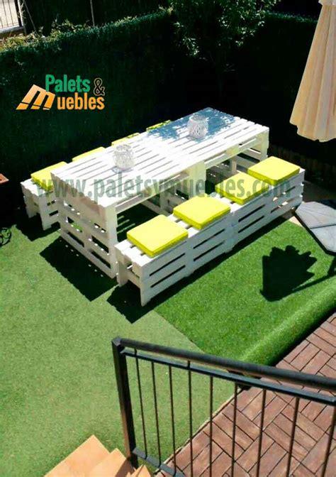Mesa y Banco con Palets - PALETS Y MUEBLES