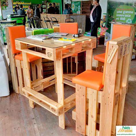 Mesa y sillas de Palets Europeos - PALETS Y MUEBLES