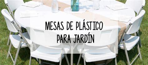 Mesas plegables de plástico para el jardin