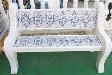 Mesas y bancos para jardines prefabricados piedra ...