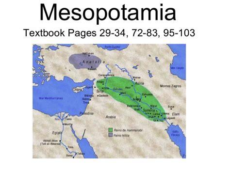Mesopotamia chart