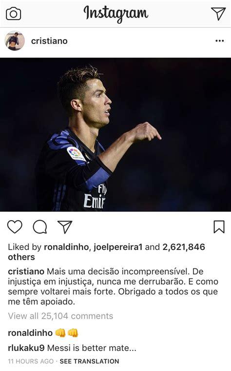 Messi and Ronaldo News: Lukaku Instagram page trolls ...