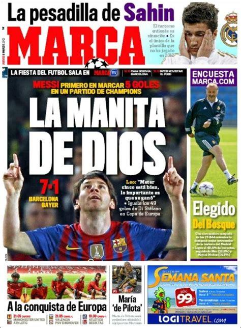 Messi posa d acord els diaris esportius catalans i ...