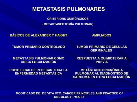 Metastasis Pulmonares