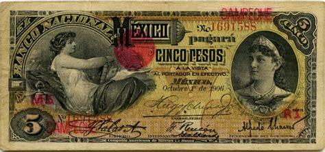 Mexican banknotes 5 Pesos banknote, El Banco Nacional de ...