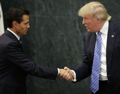 Mexican President Enrique Pena Nieto and Donald Trump ...
