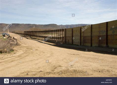 Mexico Border Fence with Holes at Jacumba, California ...
