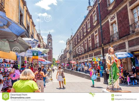Mexico City Downtown Street View Editorial Image   Image ...