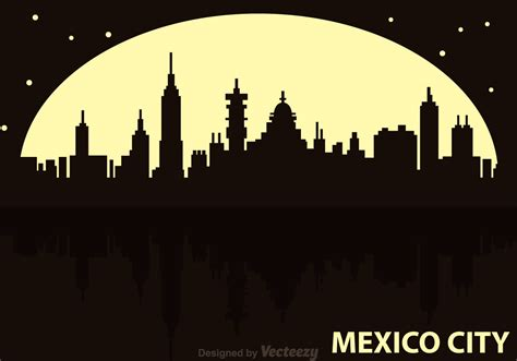 Mexico City Night Vector   Download Free Vector Art, Stock ...