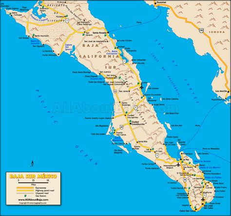 Mexico Map Baja Peninsula | Mexico Map