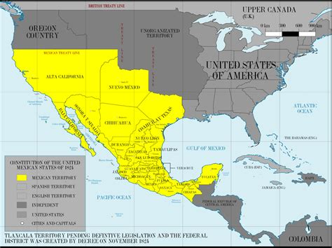 Mexico Map Before War