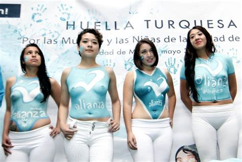 Mexico party slammed for topless women at women's rights event