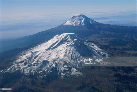 Mexico Puebla Popocatepetl And Iztaccihuatl Volcanoes ...