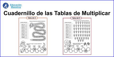 Mi Cuadernillo de Tablas de Multiplicar - (Ejercicios)
