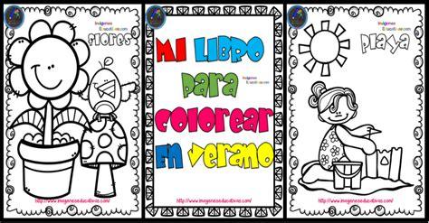 Mi libro para colorear en verano   Imagenes Educativas