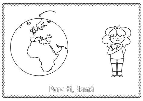 Mi mundo y mi corazón: dibujo para colorear e imprimir
