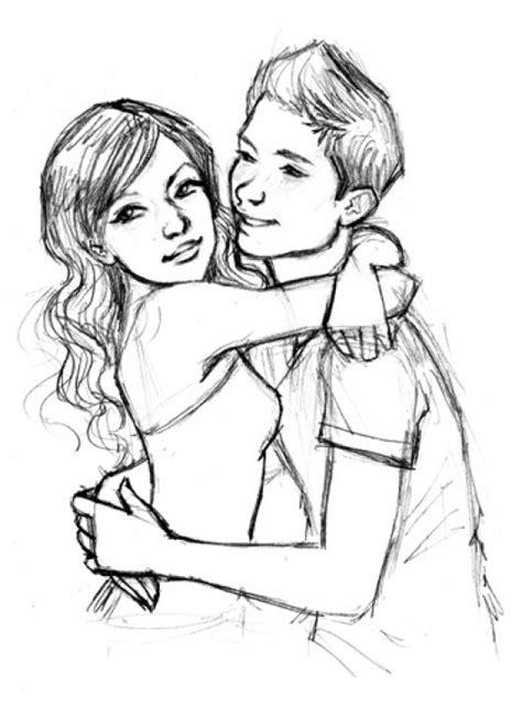 Mi Primer Amor Dibujo De Novios Adolescentes Para Pintar Y ...