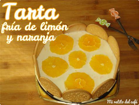 Mi ratito del café: Tarta fría de limón y naranja
