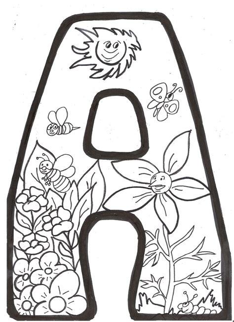 MI RINCÓN ESPECIAL DE PT: Letras de Primavera para colorear